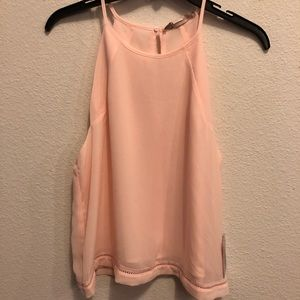 NWT Pink Tank Top with Detail on Trim